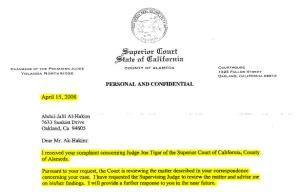 Northridge Letter referring matter to Freeman