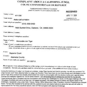 4-08 Judicial Council against Tigar
