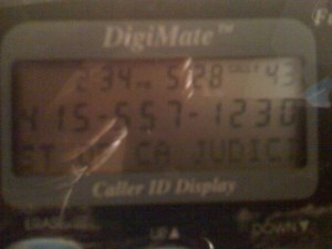 Bernie's Judicial Council Phone Number on Caller Id