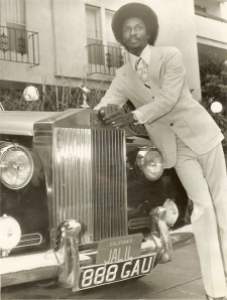 Jalil with of his Rolls Royces
