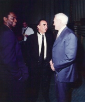 Jalil with Robert Shapiro and Bill Walsh